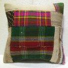 Patchwork nomadic Turkish handmade cecim kilim pillow cushion 18'' (133)