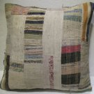 Antique Patchwork Couch Throw Pillow Turkish Kilim Rustic Cushion 26.8'' (k 103)