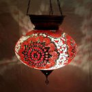 Moroccan mosaic hanging lamp glass chandelier light lampen handmade candle M 038