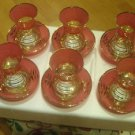 GOLD plated turkish tea set glasses ottoman cups glass mug hot tea glasses b 4