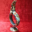 Turkish ceramic Handmade tile vase decorative art Ceramic vase hand painted v 16