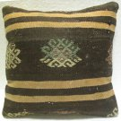 Handmade kilim nomadic Turkish handmade cecim kilim pillow cushion 15.6'' h 20