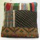 Antique Decorative Patchwork Pillow Turkish Kilim cushion kissen 17.2'' (no 19)