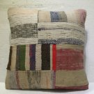 Antique patchwork kelim kissen sofa throw pillow cover tribal rug cushion 28