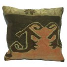 Antique Decorative Couch Throw Pillow Turkish Kilim Rustic Cushion 24'' (y035)