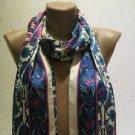 100 % silk scarf shawl vintage silk scarf handmade scarf soft light scarf m 24