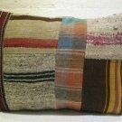Antique patchwork kelim kissen sofa throw pillow cover tribal rug cushion 44