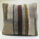 Antique patchwork kelim kissen sofa throw pillow cover tribal rug cushion 25