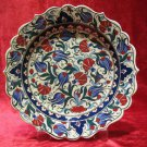 H.made lead free Ottoman iznik plate wall hanging collectible turkish ceramic 6