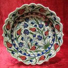 H.made lead free Ottoman iznik plate wall hanging collectible turkish ceramic 10