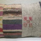 Patchwork nomadic Turkish handmade cecim kilim pillow cushion 61 x 43cm (143)