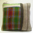 Antique patchwork kelim kissen sofa throw pillow cover tribal rug cushion 33