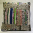 Antique patchwork kelim kissen sofa throw pillow cover tribal rug cushion 36