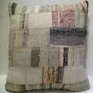 Antique Patchwork Couch Throw Pillow Turkish Kilim Rustic Cushion 27.2'' (k 109)