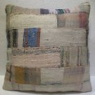 Antique Patchwork Couch Throw Pillow Turkish Kilim Rustic Cushion 26'' (k 104)