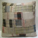 Antique Patchwork Couch Throw Pillow Turkish Kilim Rustic Cushion 27.2'' (k 107)
