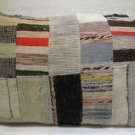 Antique Patchwork Couch Throw Pillow Turkish Kilim Rustic Cushion 30.4'' (k 118)