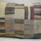 Antique Patchwork Couch Throw Pillow Turkish Kilim Rustic Cushion 30.8'' (k 119)