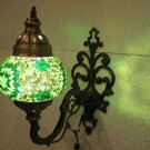 Green mosaic glass sconce lamp wall light lampe mosaique electric wall candle 3