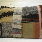 Antique patchwork kelim kissen sofa throw pillow cover tribal rug cushion 41