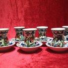 Lead free ceramic tea cup turkish tea set tea glasses ceramic glasses art deco 8