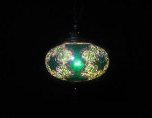 Green mosaic hanging lamp türkische lampen moroccan lantern lampe mosaique 188