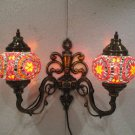 Orange mosaic glass sconce lamp wall light lampe mosaique electric candle 13