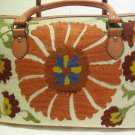 Silk embroidery hadmade bag suzani fabric purse vintage vintage turkoman bag a11