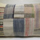 Antique Patchwork Couch Throw Pillow Turkish Kilim Rustic Cushion 30.8'' (k 122)