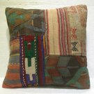 Antique patchwork kelim kissen sofa throw pillow cover tribal rug cushion 39