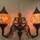 Orange mosaic glass sconce lamp wall light lampe mosaique electric wall candle 6