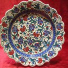 H.made lead free Ottoman iznik plate wall hanging collectible turkish ceramic 2