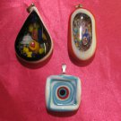 glass necklace pendant jewellery glass pendant handmade art work ko 11