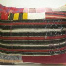 Antique Patchwork Couch Throw Pillow Turkish Kilim Rustic Cushion 30.4'' (k 113)