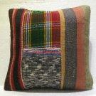 Antique patchwork kelim kissen sofa throw pillow cover tribal rug cushion 26