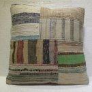 Antique Decorative Patchwork Pillow Turkish Kilim cushion kissen 19.2'' (no 18)