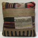 Antique Decorative Couch Throw Pillow Turkish Kilim Rustic Cushion 45cm (13)