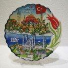 Hagia sophia blue mosque tulip Turkish flag handmade ceramic wall hanging tile 4