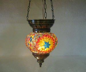 Moroccan lantern mosaic hanging lamp glass chandelier light lampe mosaiqe hng 02