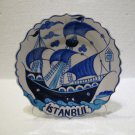 Handmade hand painted wall hanging decor Turkish ceramic tile wall hanging 010