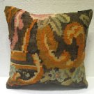 "Antique Decorative Couch Throw Pillow Turkish Kilim Rustic Cushion 17.6"" 154"