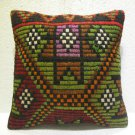 Embroidery Turkish handmade cecim kilim pillow cushion 15.2'' x 15.2'' (114 )