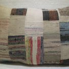 Antique Patchwork Couch Throw Pillow Turkish Kilim Rustic Cushion 30.8'' (k 121)
