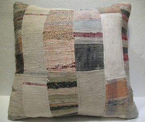 Antique Patchwork Couch Throw Pillow Turkish Kilim Rustic Cushion 26.8'' (k 105)