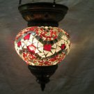 Moroccan lantern mosaic hanging lamp glass chandelier light lampen candle m 089