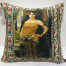 Turkoman lady pillow cushion home decor modern decoration sofa cover throw 54