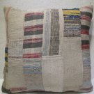 Antique Patchwork Couch Throw Pillow Turkish Kilim Rustic Cushion 26.8'' (k 100)