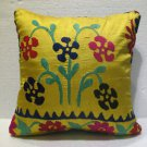 Antique handmade suzani embroidery cushion KELIM kissen 17.2'' x 17.2'' (s 02)