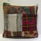 Antique Decorative Couch Throw Pillow Turkish Kilim Rustic Cushion 18'' (8)
