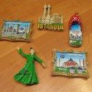 Ortakoy mosque / Blue mosque / Hagia sophia / turning dervishes magnet (1)